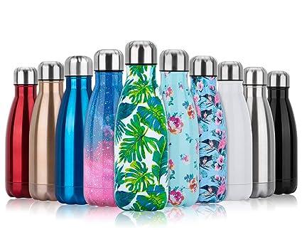 Botella Agua Acero Inoxidable 350/500/750ml, Botella Termica Reutilizable con Doble Aislamiento para Mantiene las bebidas frías por más de 24 horas, ...