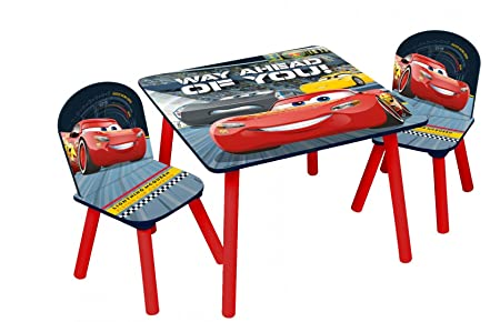 Disney Cars Wooden Table and 2 Chairs Set, Cars3: Amazon.co.uk ...