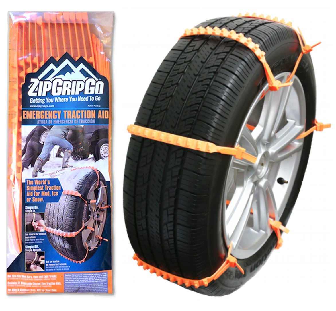 Amazon.com: Zip Grip Go Cleated Tire Traction Device for Cars, Vans ...
