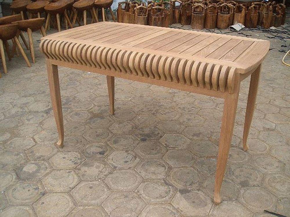 ジャービス商事 天然木無垢材 ガーデンテーブル カステルテーブル 36603 テーブルのみ B009LF07VC