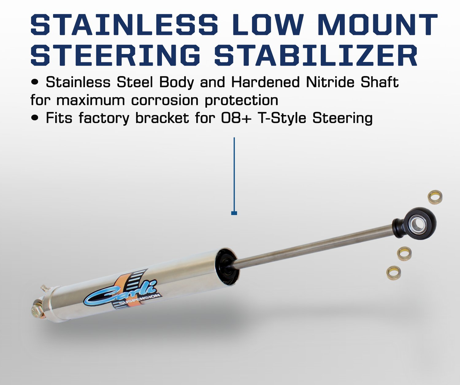 Carli Suspension Compatible for Dodge Low Mount Steering Stabilizer CS-DLMSS-T