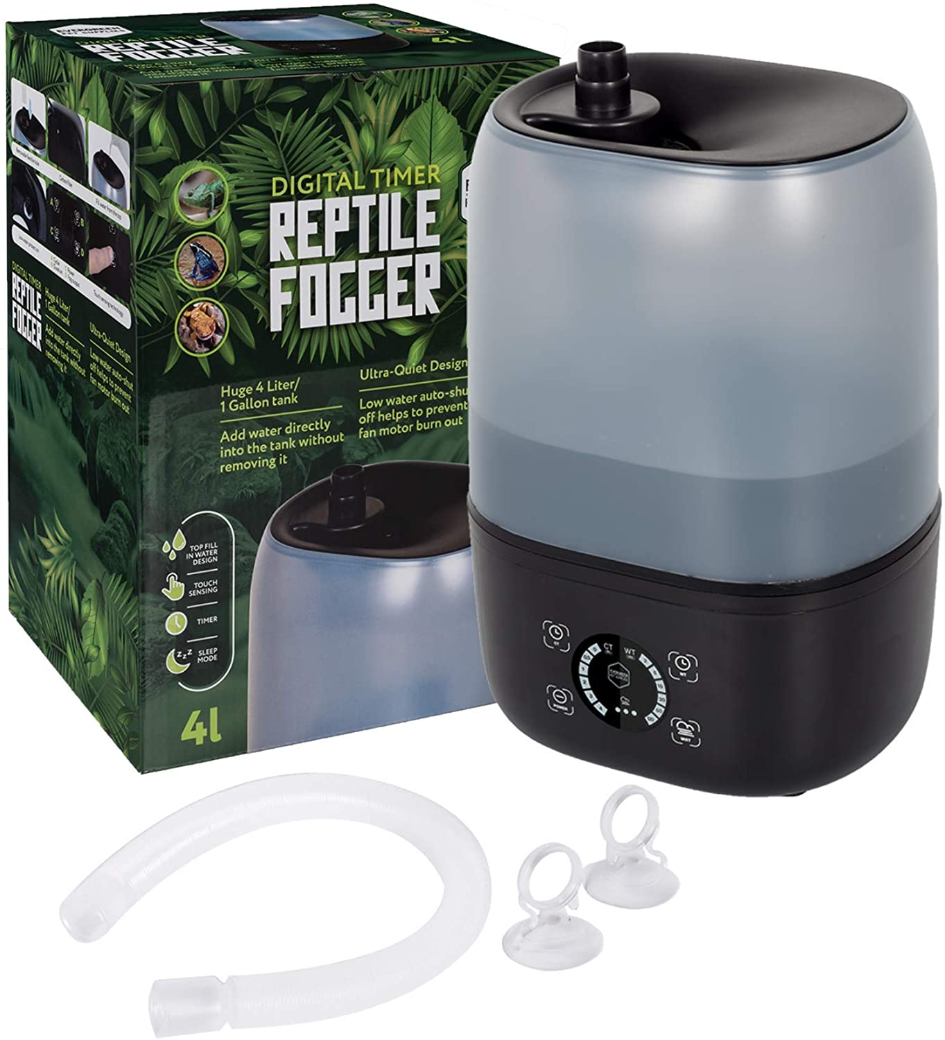 Coospider Reptile Fogger Terrariums Humidifier Fog Machine Mister 3 Liter Tank 380Lhr High Volume Fog Ideal for a Variety of