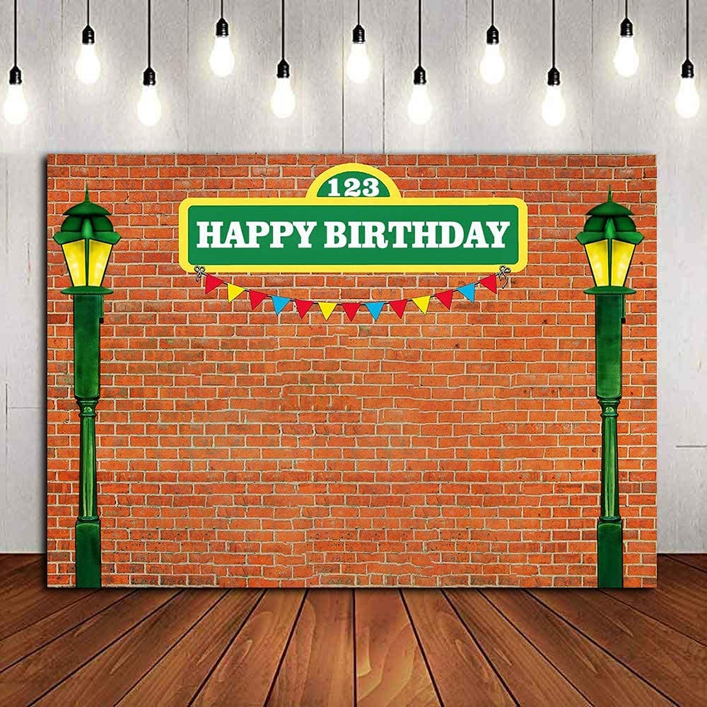 MME Vintage Brick Wall Background Guitar Punk Decorative Background 7x5ft Photography Banner Picture Child Birthday Shower Backdrop Decor BJZDME99