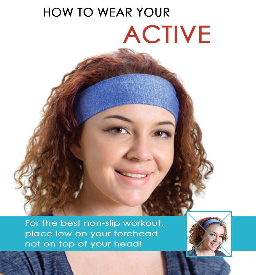 Red Dust Active Running Headband - Ideal for Athletic Workouts, Cycling, Hot Yoga & Exercise - Wide, Lightweight & Sweat Wicking by Red Dust Active (Image #7)