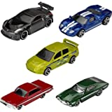 Hot Wheels Fast & Furious 5-Pack 1:64 Scale Cars Exclusive Deco Great Collectible for All Ages