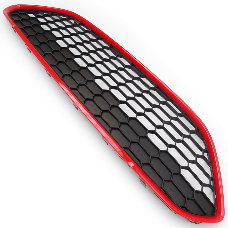colore Rosso Griglia anteriore a nido dape Underground Parts F-FS-66B Black Edition Zetec S