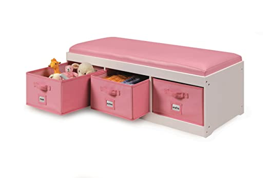 Amazon.com : Badger Basket Kid\'s Storage Bench with Cushion and ...