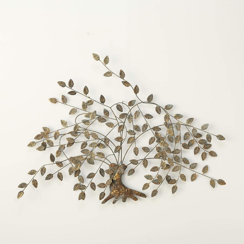Immo Wandobjekt Wanddeko Gold Wand Dekoration Baum Juline B125cm Eisen Baumdekoration