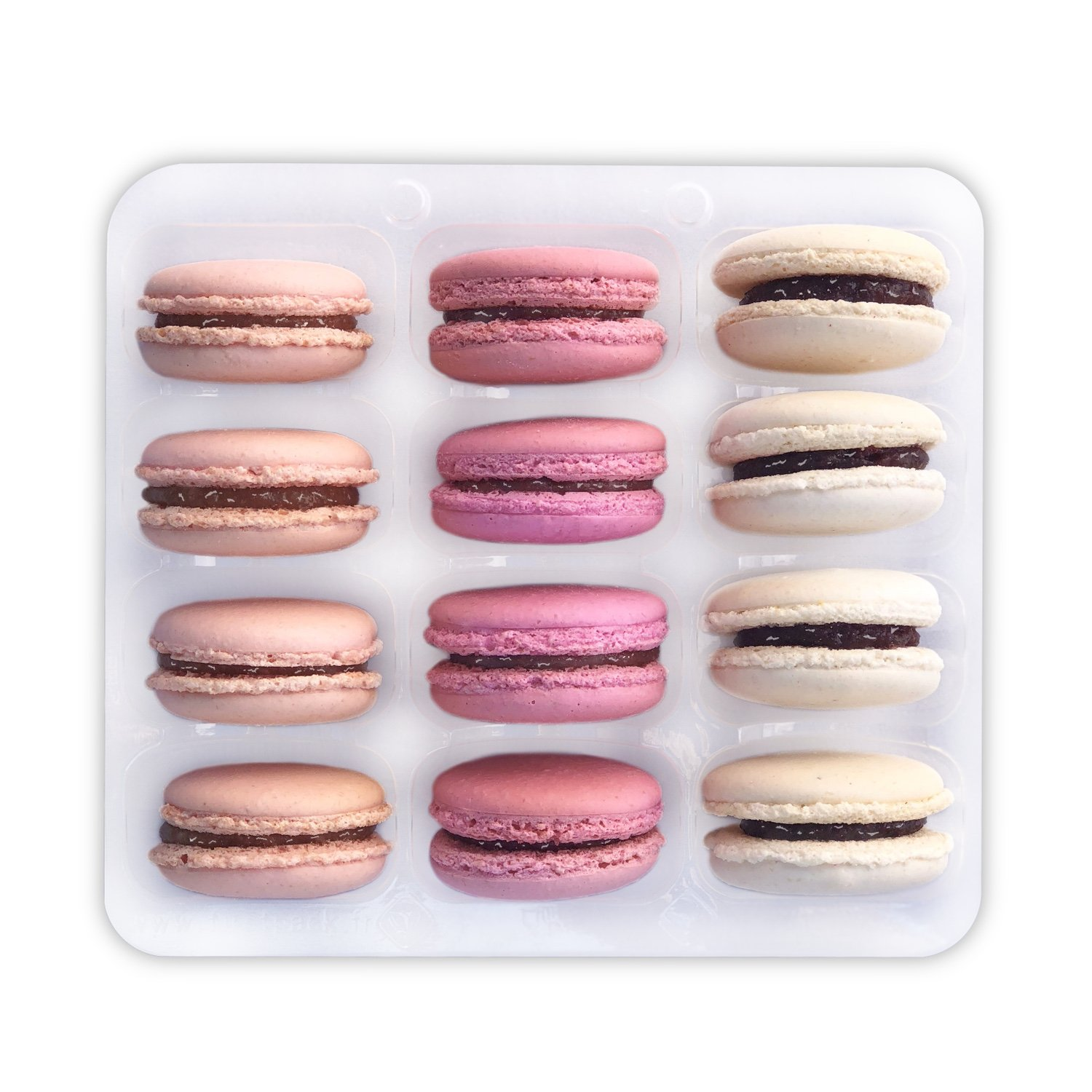 Pink Macarons Assortment - Baby Shower Macaroons - It's a Girl - French Cookies Set - Gluten free - Dairy free (12 Macarons)