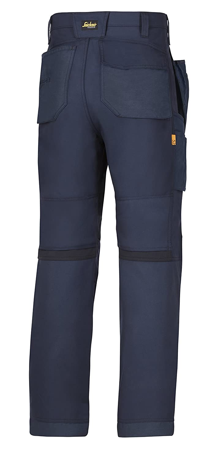 Snickers 62010404088 Work Trousers with Holster Pockets AllroundWork Size 88 in Black