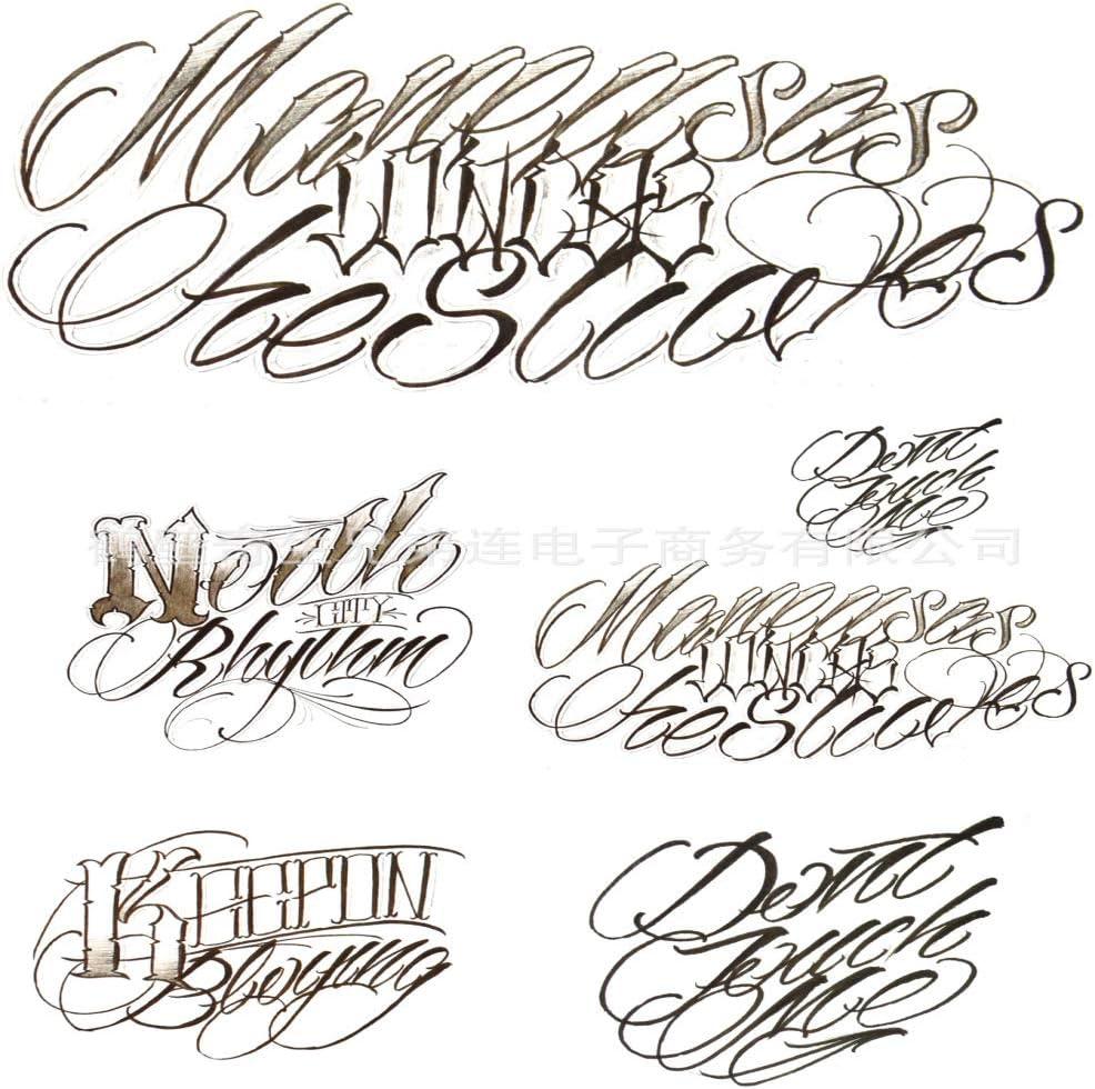9 piezas de calamar negro pequeño fresco pegatinas de tatuaje a ...