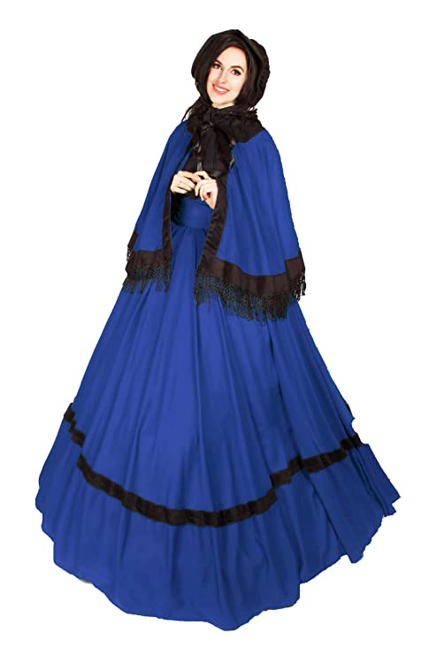 Old Fashioned Dresses | Old Dress Styles Reminisce Dickens Victorian 39 Skirt Cape Sash $49.99 AT vintagedancer.com