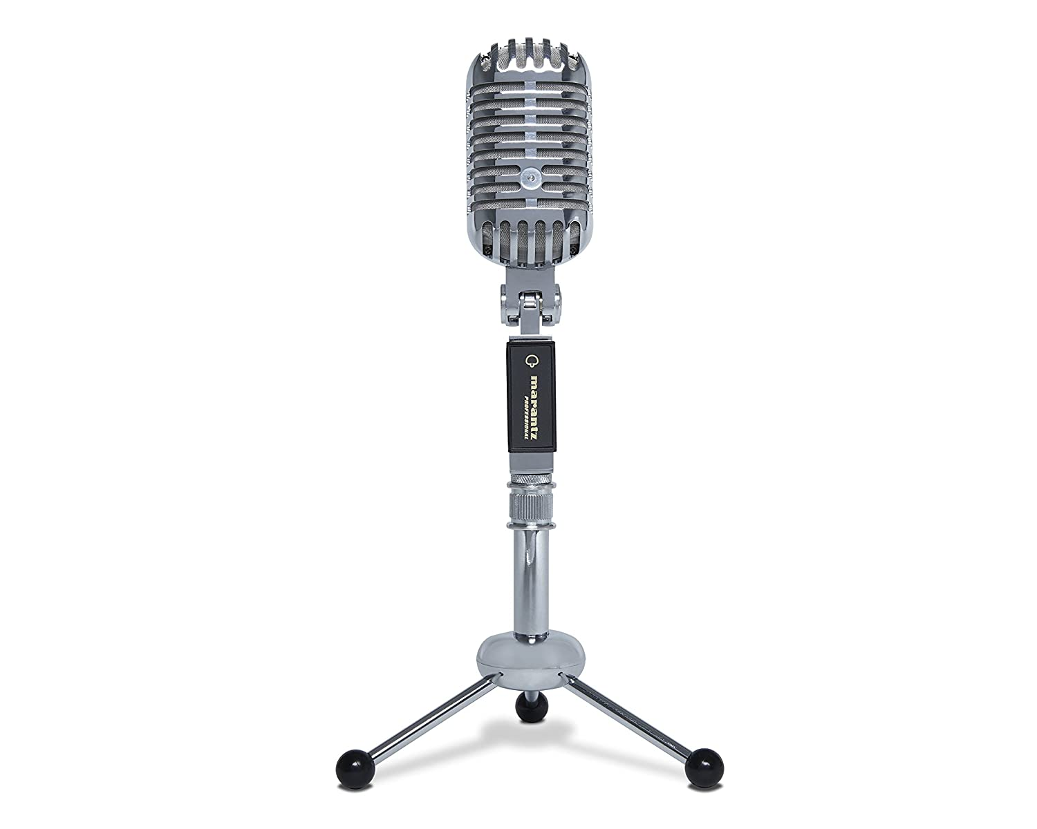Marantz Professional Retro Cast - USB Microphone with Vintage Styling | Cardioid pickup pattern | USB output (Perfect for Podcasting) | Wide-range 40-16kHz frequency | Tripod & Cable Included
