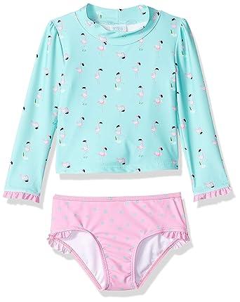 Kiko /& Max Girls Suit Set with Long Sleeve Rashguard Swim Shirt