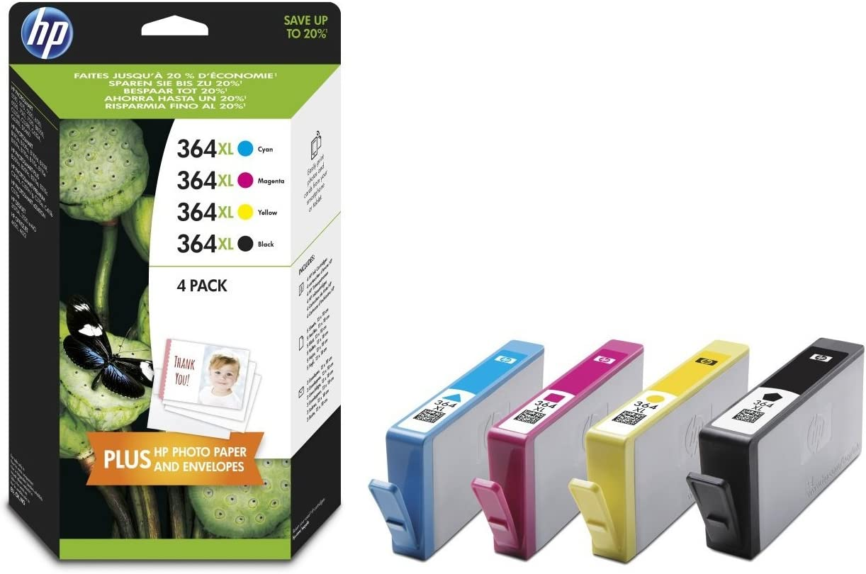 HP 364XL - Pack de ahorro de 4 cartuchos de tinta Original HP 364 ...