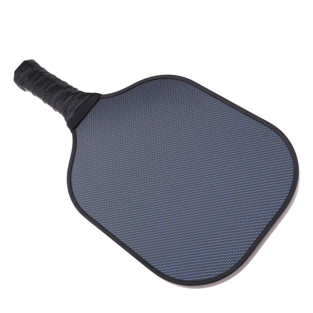 Negro Sharplace 1 Pieza de Raqueta para Pickleball Hecho de Panal de Fibra de Carbono PP