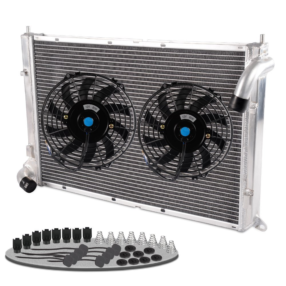 Aluminum Radiator + 9'' FAN For 02-08 MINI COOPER S 1.6L SUPERCHARGED R52/R53