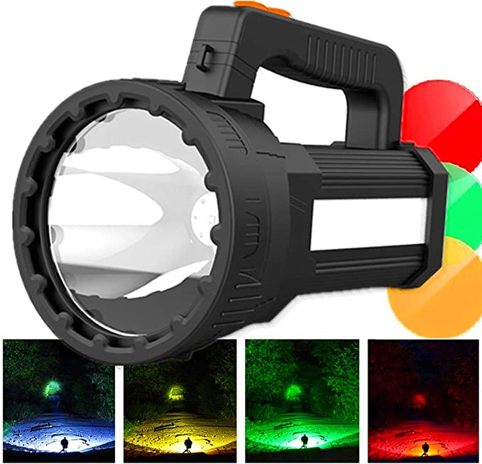 Super Bright 6000 Lumen LED Flashlight Handheld spotlig Rechargeable spotlight