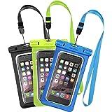 [3 Pezzi] Custodia Impermeabile Mpow Custodia Impermeabile, Borsa Impermeabile ,Sacchetto Impermeabile Cellulare Dry Bag, Sacchetto di Smartphone Universale per iPhone 7/7 Plus, Galaxy /Google Pixel/LG/HTC (3-Pack)
