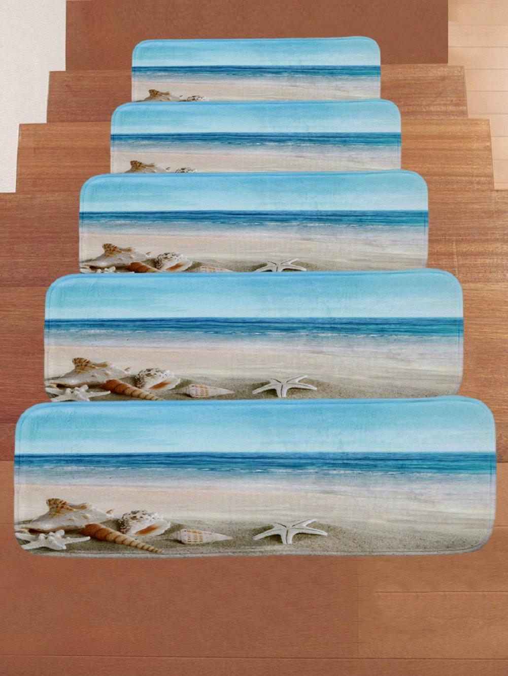 GUSJ 7pz stair Pads coral velvet tappeto stair step tappeto, tappeto da cucina, pavimento tappeto, zerbino | anti-skid, confortevole e morbido tappeto per scale | 70x 22cm yqigo.cn