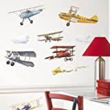 "RoomMates Stickers muraux ""Avions"" Enfant Repositionnable"
