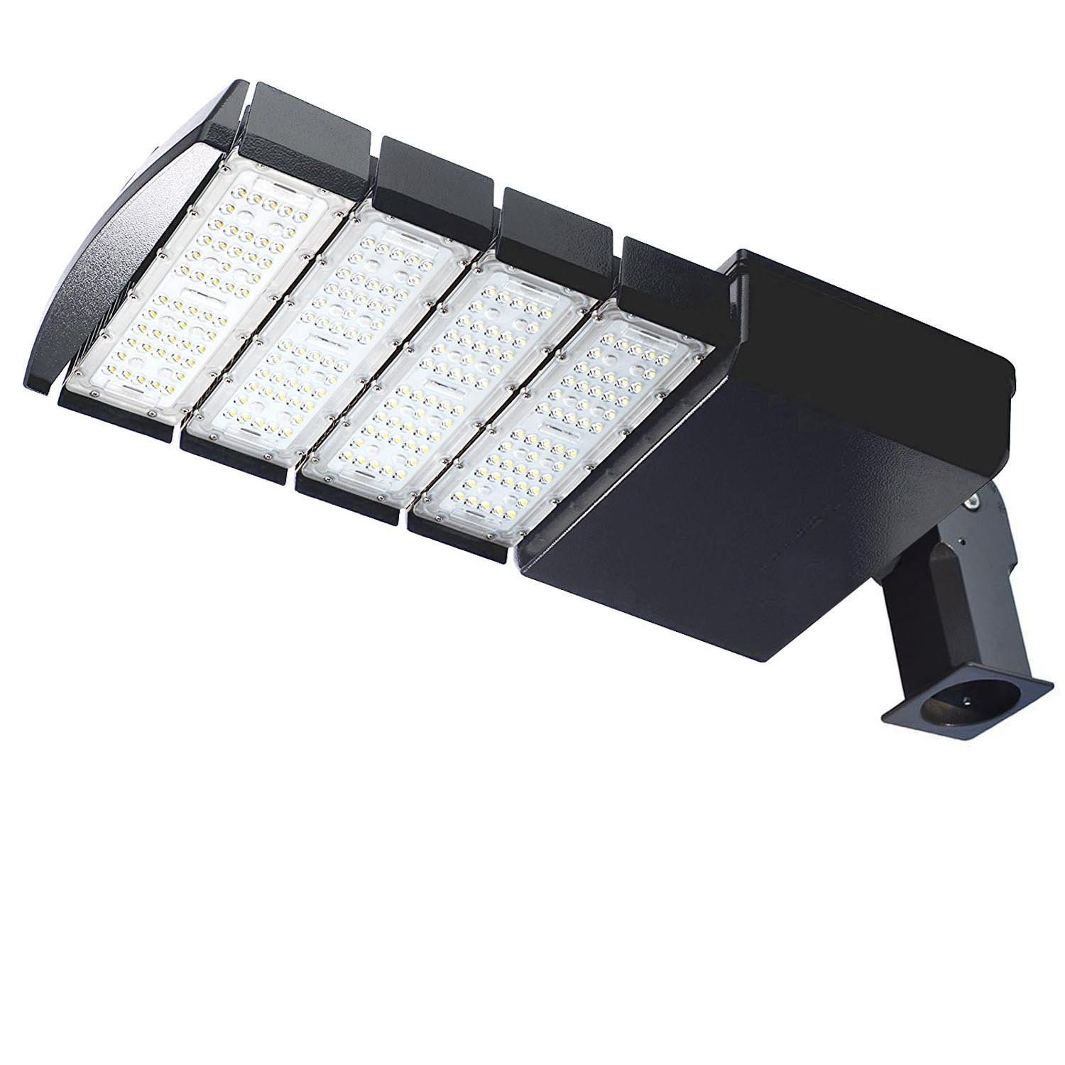 LED Shoebox Pole Light 200W (600W Equal HID/HPS Replacement) and 0-10V Dimmable ,Daylight White 5000K ETL DLC Listed with Slip Fitter Adjustable Mount for Parking Lot Outdoor Street Area Light