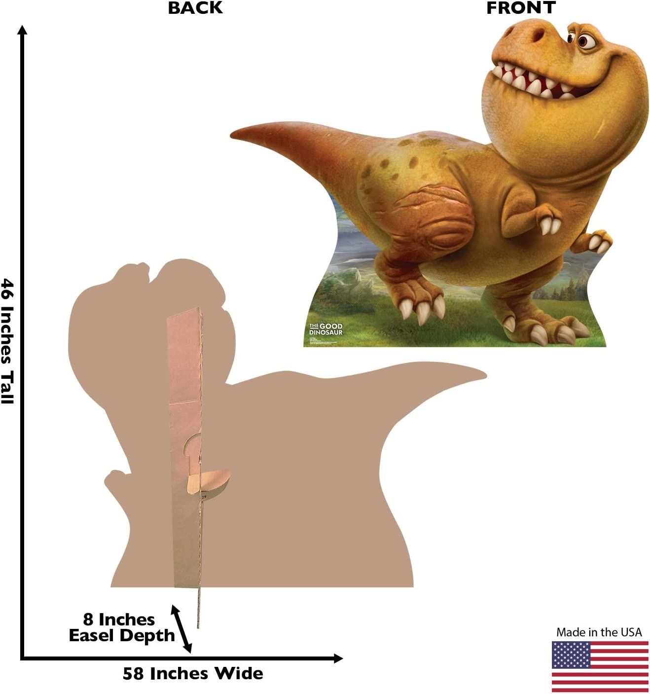 Advanced Graphics Butch Life Size Cardboard Cutout Standup Disney Pixars The Good Dinosaur
