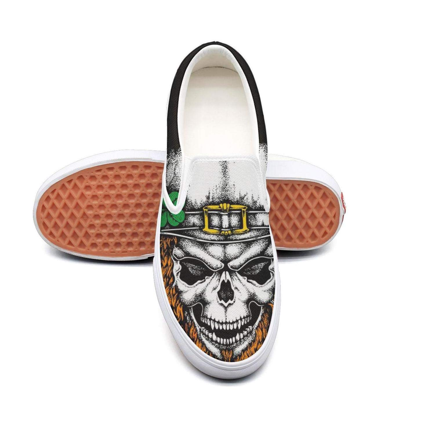 Shamrock St Patricks Day skull Casual Shoes for Men customize Breathable Walking Shoes