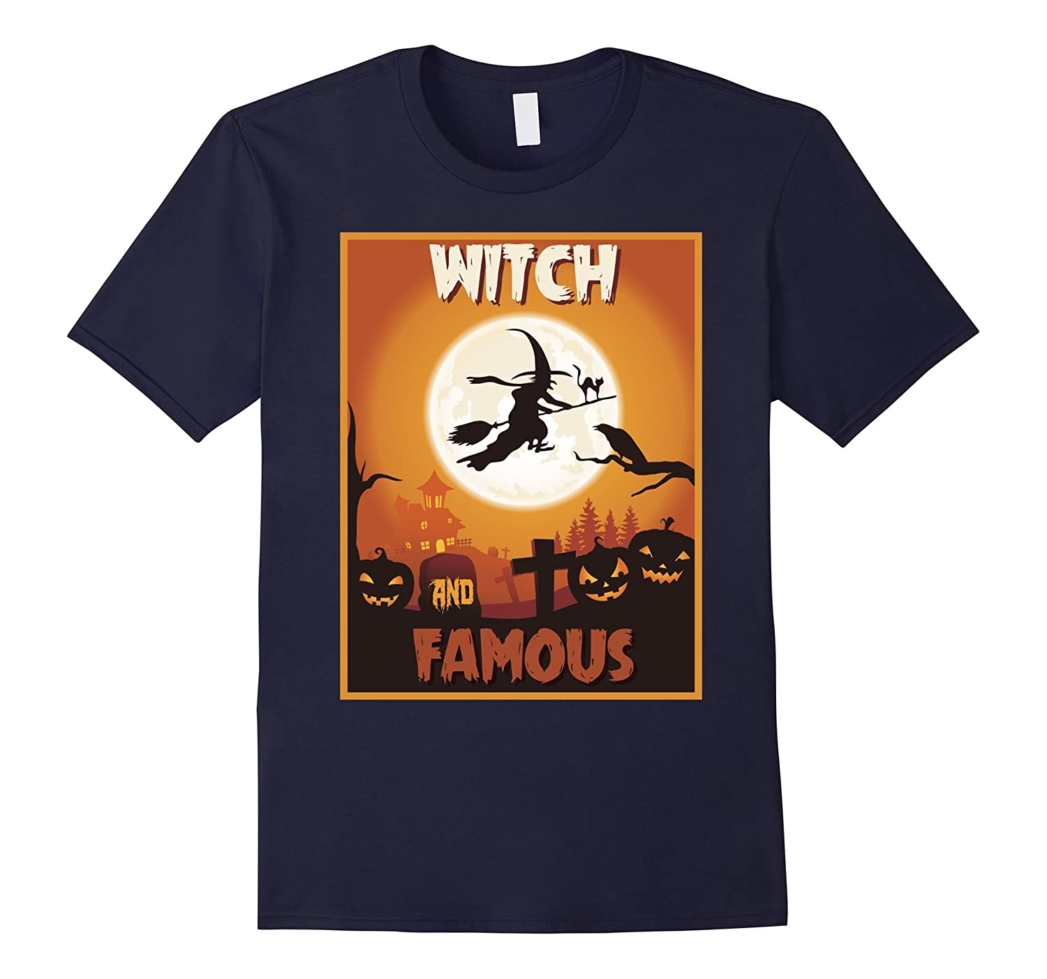 Witch And Famous T-shirt Halloween Witch Costume-Art
