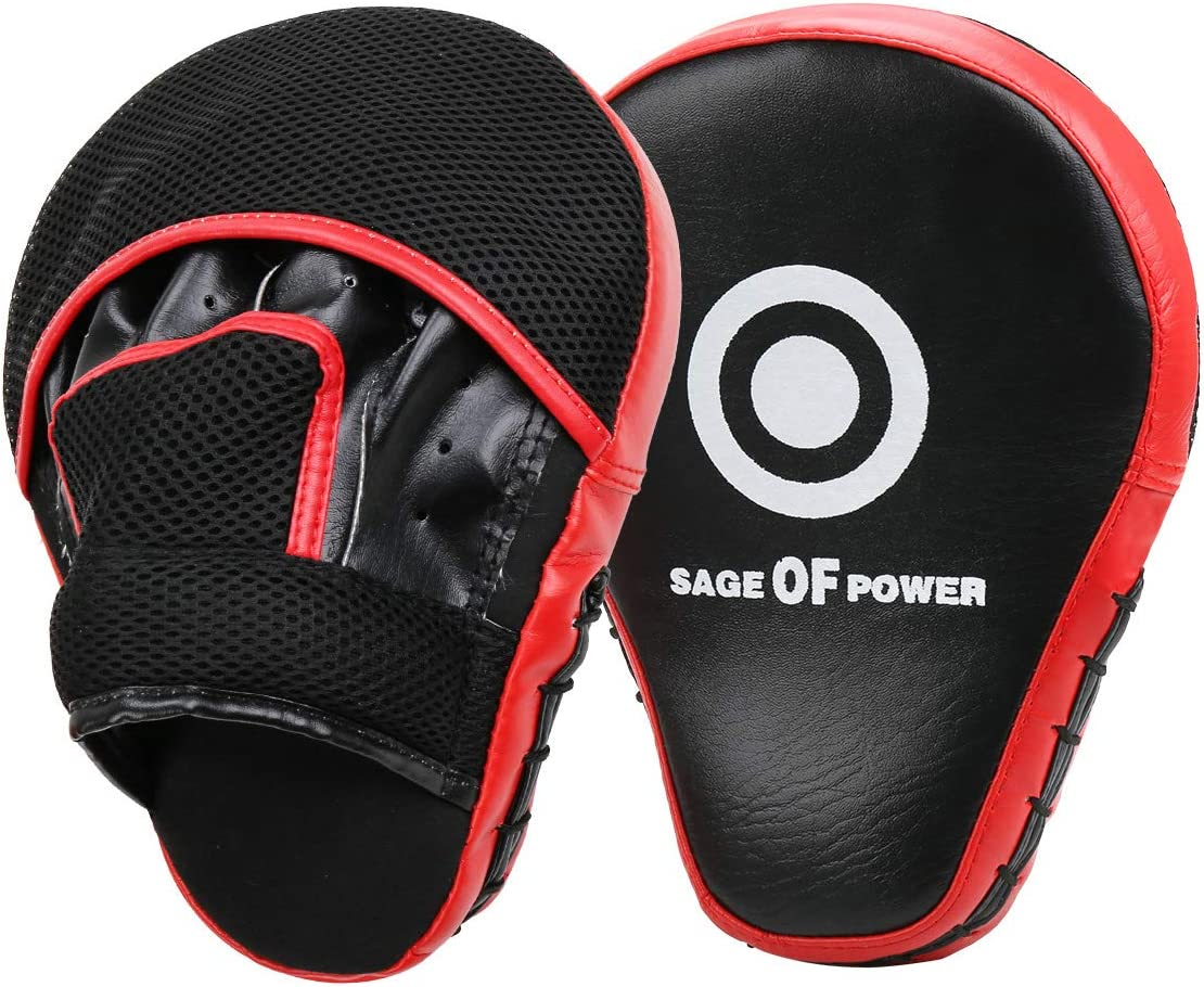 VAlinks Boxing Leather Punch Focus Mitts MMA Punch Mitts Training Boxing Punch Focus Mitts Target Focus Punch Pad Gloves Karate Muay Thai Kickboxing