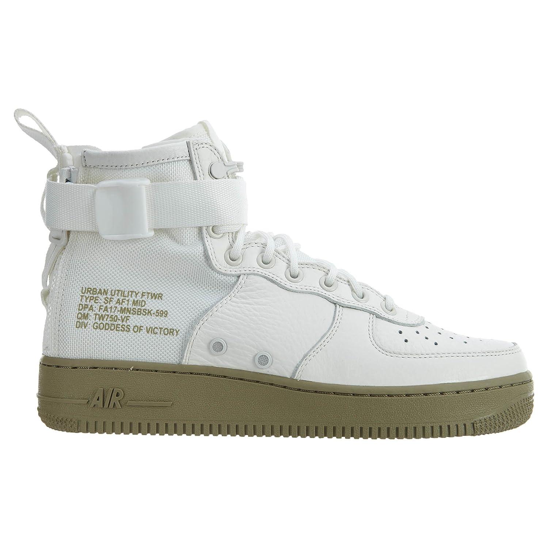 wholesale dealer 49dea 43f74 Nike Scarpe Uomo Wmns SF SF SF Air Force 1 Mid in Pelle e Tessuto Bianco  917753-101 B075414HZG 45 ...