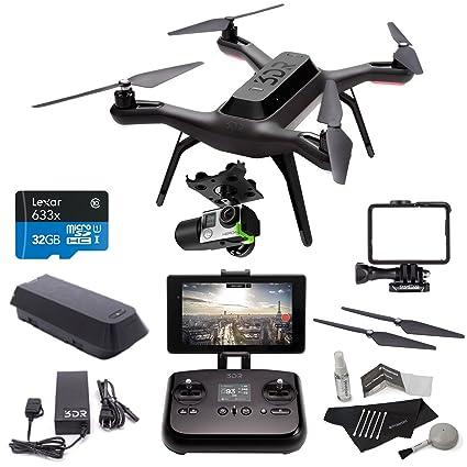 Amazon com : 3DR Solo Drone Quadcopter + 3D Robotics GB11A