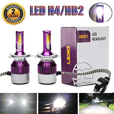 Amazon.com: 2018 Newest Design LED H4/9003/HB2 LED Headlight High Low Dual Beam Bulbs Kit 6000K 12000LM Super Bright Car Light Replacement - 3 Year ...