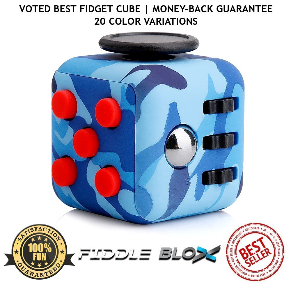 Fiddle Blox Premium Fidget Cube Toy for Stress & Anxiety Relief by ...