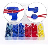 Ginsco 67pcs 24-10 AWG Quick Splice Solderless Wire and T-Tap Electrical Connector Assortment Kit with Case
