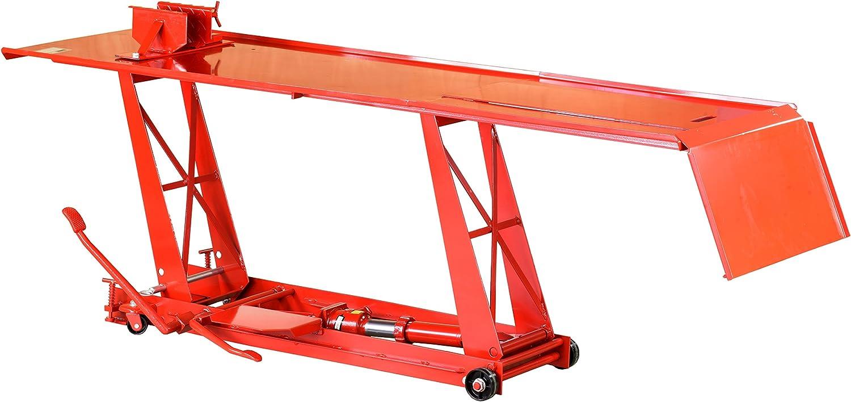 Pro Lift Montagetechnik Plb400 Motorradhebebühne 400kg Mit Fußpumpe Parallelogramm Rot T64001 01521 Baumarkt
