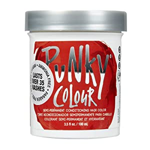 Punky Fire Semi Permanent Conditioning Hair Color, Vegan, PPD and Paraben Free, lasts up to 25 washes, 3.5oz