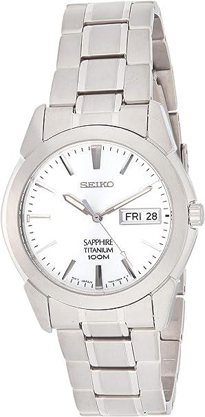 Seiko Reloj Analógico de Cuarzo para Hombre con Correa de Titanio – SGG727P1