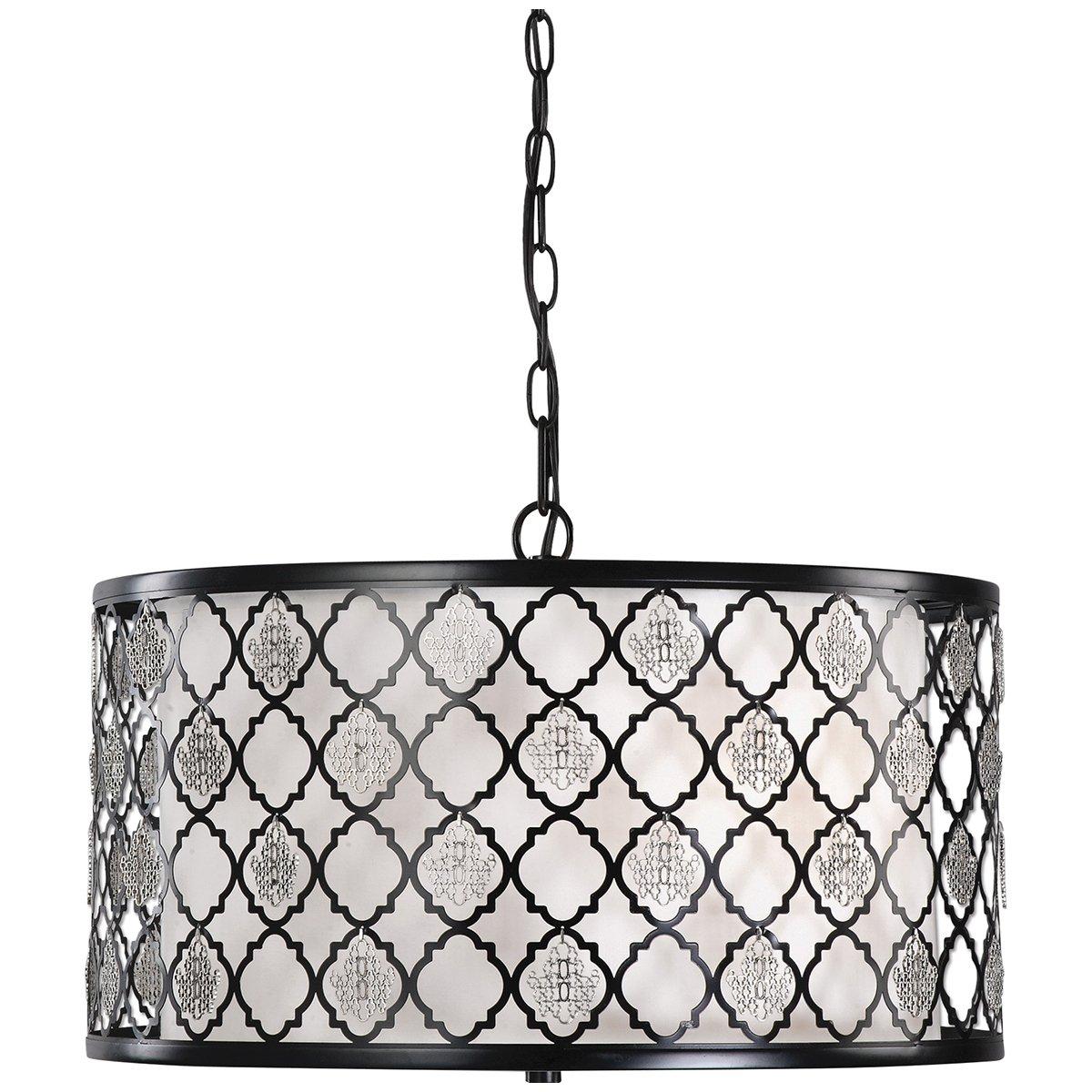 Black Uttermost 22062 Filigree 3 Light Drum Pendant