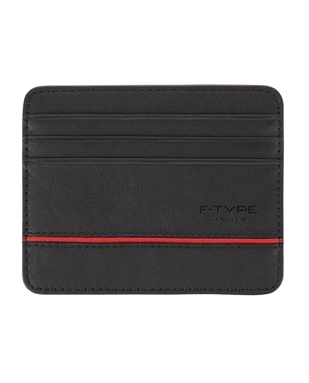 Jaguar Jaguar Leather F Type Card Holder - Black Credit Card Case 50JSLGTRXFTCH