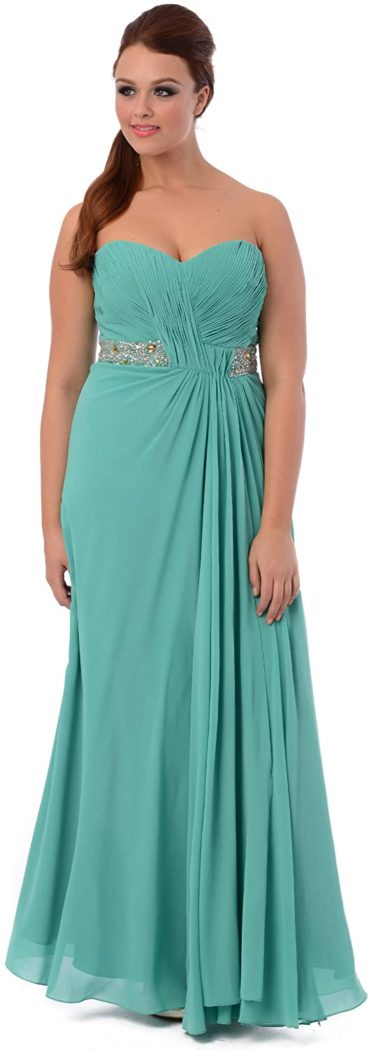 Amazon.com: Goddess Long Gown Prom Dress Bridesmaid: Clothing