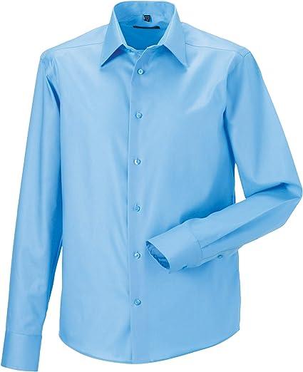 Russell Collection - Camisa de Manga Larga Entallada Diseño Tailored Ultimate Modelo Non-Iron Hombre Caballero - Trabajo/Boda/Fiesta: Amazon.es: Ropa y accesorios