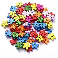 Funihut - 100 Botones de Flores de Colores