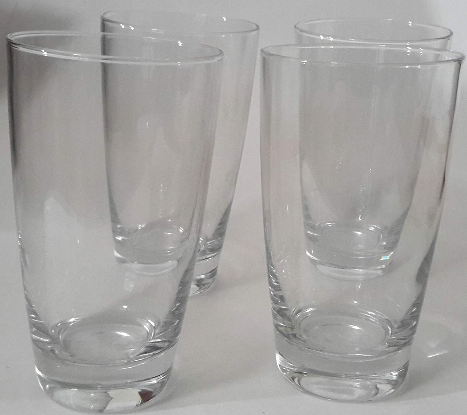 FOOD Network Signature Series NAPA Lead-Free CRYSTAL HIGHBALL GLASSES - 16 OZ - Set of 4 - Made in Italy