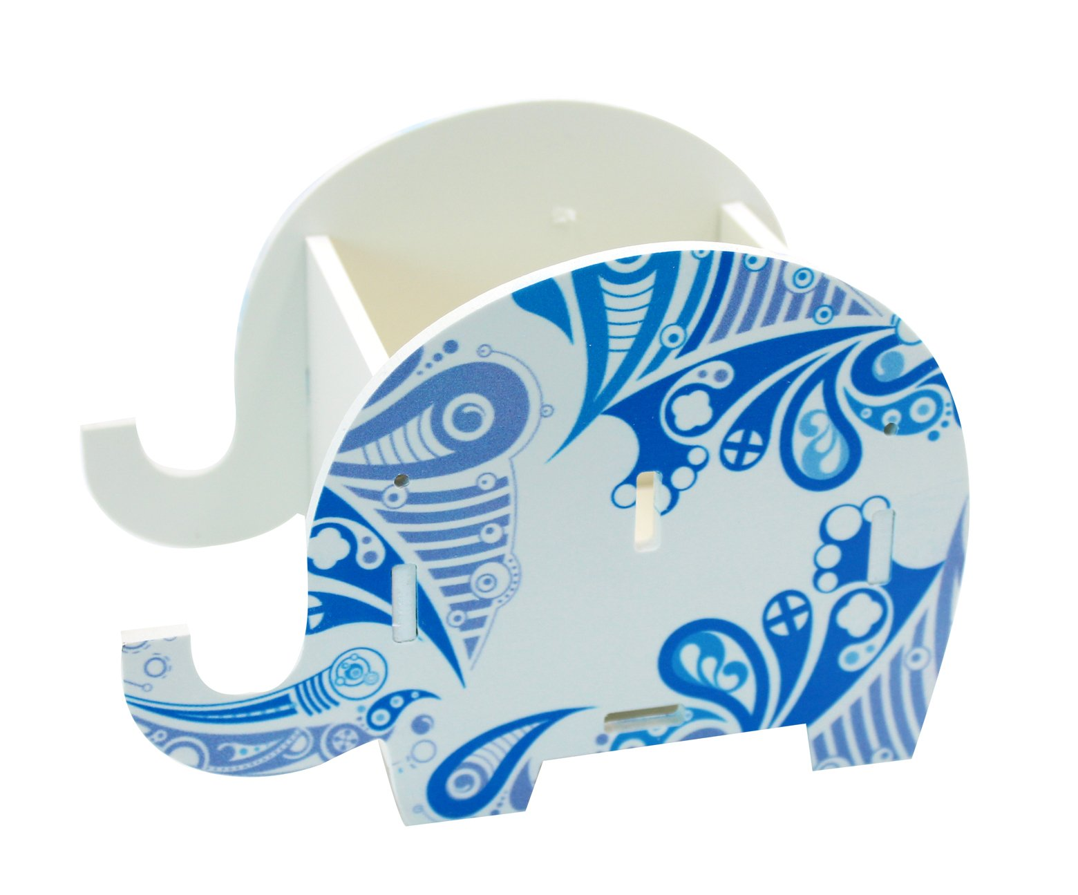 Cute Elephant Pen Pencil Comestic Stationery Holder Cell Phone Stand Multifunctional Storage Box Business Card by KINGSEVEN (Image #1)