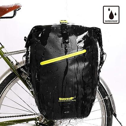 62bcd862837 Rhinowalk Bike Bag Waterproof Bike Pannier for Biycle Cargo Rack 25L  Postman Saddle Bag Shoulder Bag Laptop Pannier Rack Bicycle Bag  Professional Cycling ...