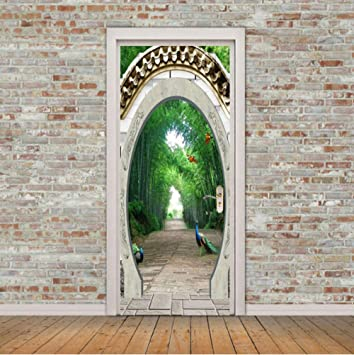 Etiqueta De La Puerta Vinilo Puerta Arco Pavo Real ...