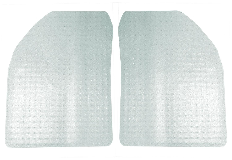 Coverking Front Custom Fit Floor Mats for Select Freightliner Sprinter Models - Nibbed Vinyl (Clear)