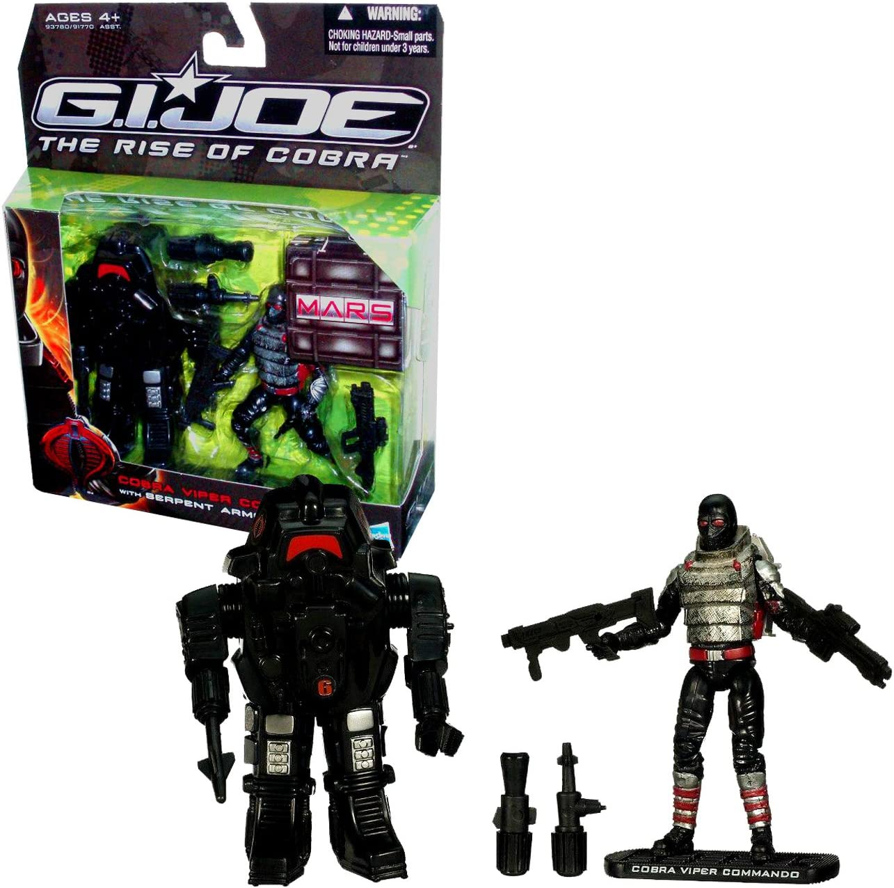 "GI Joe Ice Viper 4/"" Action Figure 2009 Comme neuf on Card Rise Cobra Hasbro ROC ARCTIC TROOPER"