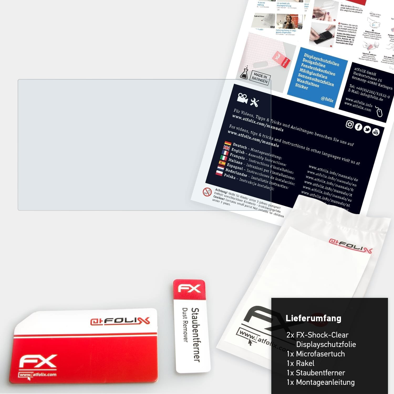2X ultraklare und sto/ßd/ämpfende FX Folie atFoliX Schutzfolie kompatibel mit Sony XAV-AX100 Panzerfolie
